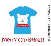 christmas bear tshirt....   Shutterstock .eps vector #754766176