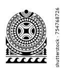 maori tatoo design for shoulder   Shutterstock .eps vector #754768726
