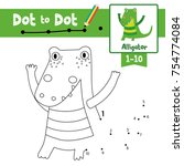 dot to dot educational game and ... | Shutterstock .eps vector #754774084