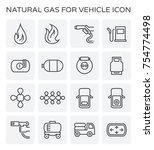 tank and transportation icon of ... | Shutterstock .eps vector #754774498