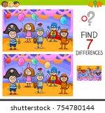 cartoon illustration of finding ... | Shutterstock . vector #754780144