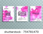 abstract business brochure... | Shutterstock .eps vector #754781470