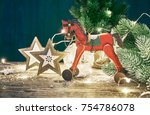 christmas card with firtree... | Shutterstock . vector #754786078