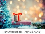 merry christmas and happy new... | Shutterstock . vector #754787149