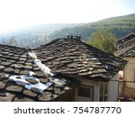 old house in the mountain  | Shutterstock . vector #754787770