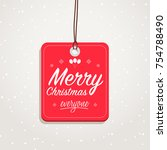 merry christmas everyone badge | Shutterstock .eps vector #754788490