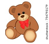 cute teddy bear isolated on... | Shutterstock .eps vector #754793179