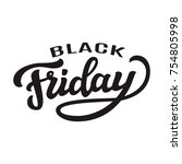 black friday typography... | Shutterstock .eps vector #754805998