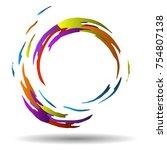 modern circular vector pattern. ... | Shutterstock .eps vector #754807138