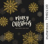christmas vector illustration... | Shutterstock .eps vector #754821100
