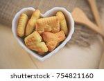 Top View Of Alphabet Biscuits...
