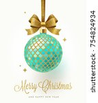 christmas greeting card  ... | Shutterstock .eps vector #754824934