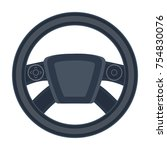 steering wheel single icon in... | Shutterstock .eps vector #754830076