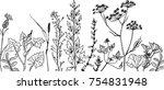 vector black line on white... | Shutterstock .eps vector #754831948