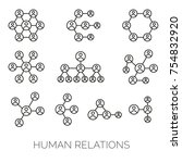 human relations simple charts.... | Shutterstock .eps vector #754832920