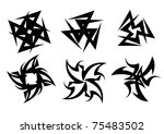 templates for tattoo and design ... | Shutterstock .eps vector #75483502