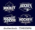 modern professional hockey logo ...   Shutterstock .eps vector #754835896