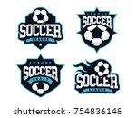 modern professional soccer logo ... | Shutterstock .eps vector #754836148