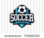 modern professional soccer logo ... | Shutterstock .eps vector #754836250
