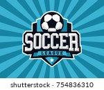 modern professional soccer logo ... | Shutterstock .eps vector #754836310