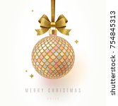 christmas greeting card  ... | Shutterstock .eps vector #754845313