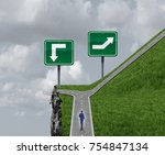 easy choice decision concept to ... | Shutterstock . vector #754847134