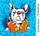 french bulldog. vector... | Shutterstock .eps vector #754848916