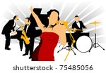 vector drawing music jazz... | Shutterstock .eps vector #75485056