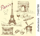Paris   Hand Drawn Collection