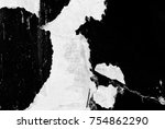 old grunge ripped torn vintage... | Shutterstock . vector #754862290