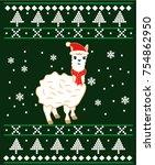 ugly christmas cartoon | Shutterstock .eps vector #754862950
