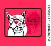 french bulldog. vector... | Shutterstock .eps vector #754865356