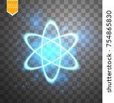 shining atom scheme. isolated...   Shutterstock .eps vector #754865830