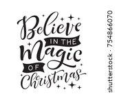 vector holidays lettering.... | Shutterstock .eps vector #754866070