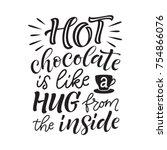 vector holidays lettering.... | Shutterstock .eps vector #754866076