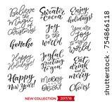 vector set of holidays... | Shutterstock .eps vector #754866118