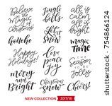 vector set of holidays... | Shutterstock .eps vector #754866124