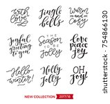 vector set of holidays... | Shutterstock .eps vector #754866130