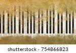 brush abstract piano keys on... | Shutterstock . vector #754866823