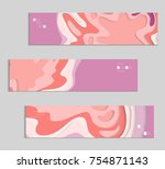 abstract banner template with... | Shutterstock .eps vector #754871143