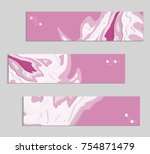 abstract banner template with... | Shutterstock .eps vector #754871479
