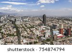 Aerial View Of Mexico City Ove...
