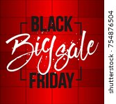 abstract vector black friday... | Shutterstock .eps vector #754876504