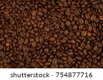 coffee beans background | Shutterstock . vector #754877716