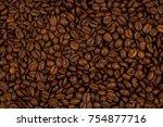 coffee beans background | Shutterstock . vector #754877716
