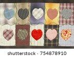 quilt   heart pattern   Shutterstock . vector #754878910