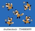 vector illustration of fox...