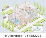 nursing home. assisted living...   Shutterstock .eps vector #754883278