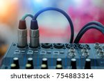 professional audio systems.xlr...   Shutterstock . vector #754883314