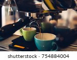 Coffee Machine Pouring Coffee...